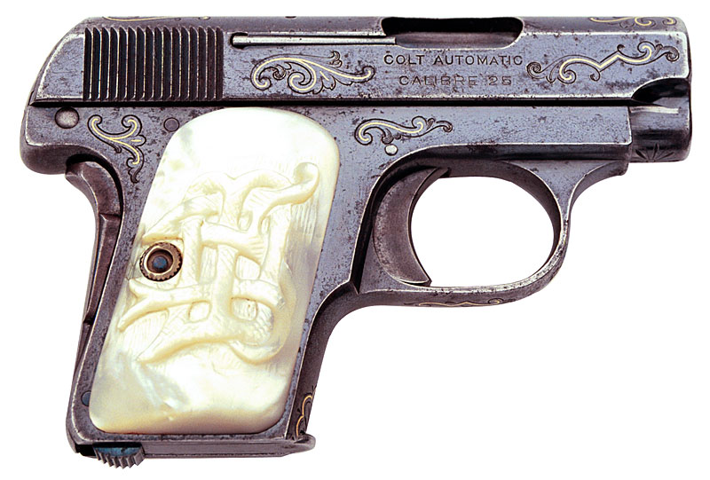 Colt 1908 Vest Pocket engraved and gold inlaid