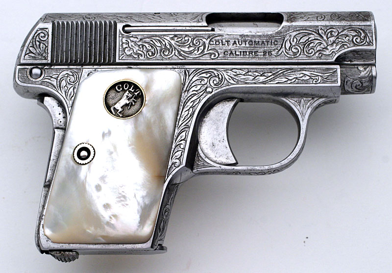 Colt 1908 Vest Pocket with Silver Plated