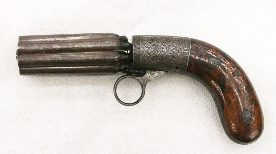 German 8 shot percussion Bündelrevolver made by H.W. KRAMER