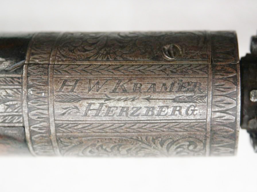 8 shot percussion pepperbox made by H.W. Kramer
