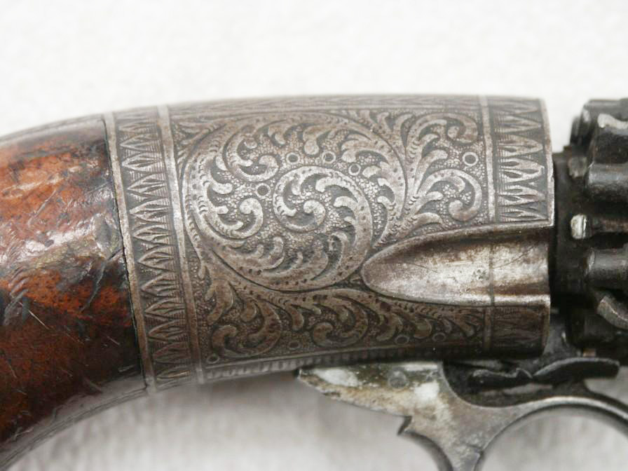 German 8 shot percussion pepperbox made by H.W. Kramer