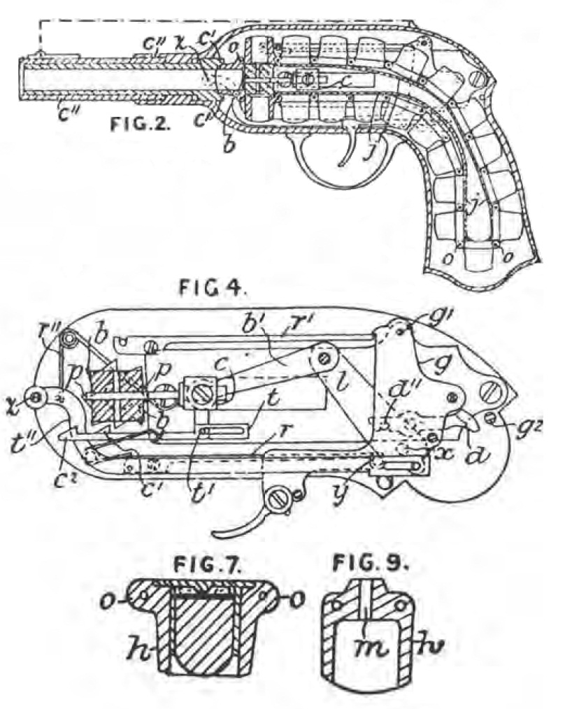 French Guycot Chain Pistol Patent