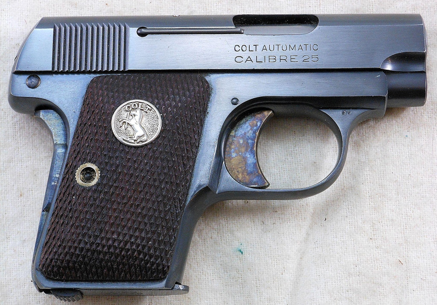 Colt 1908 Vest Pocket with Type IV standard grips