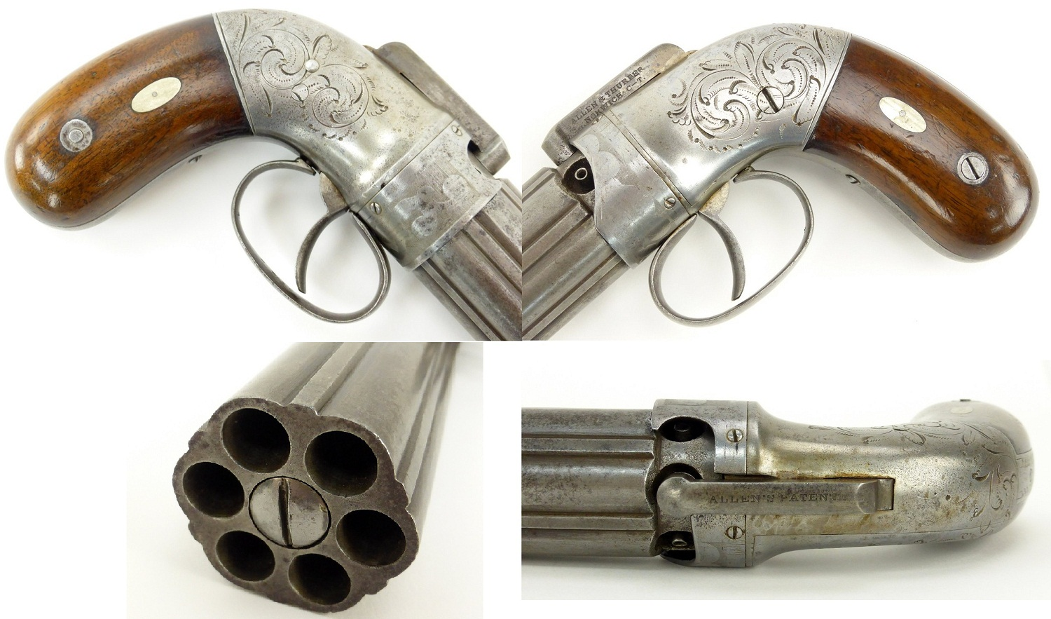 Pepperbox Allen & Thurber Norwich dragoon