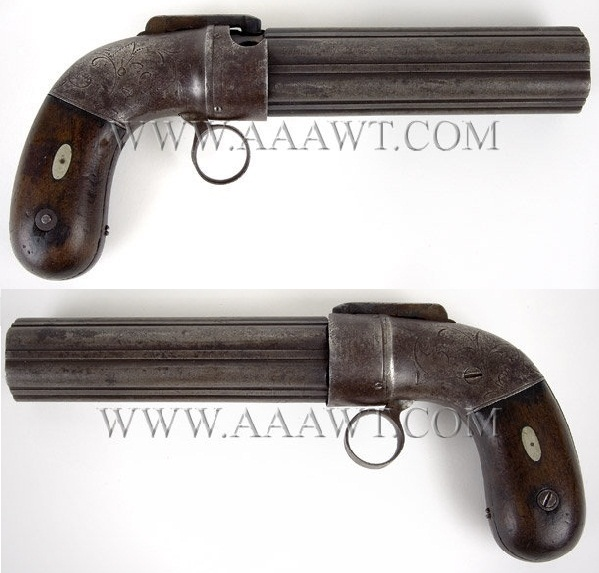 Allen Pepperbox dragoon size ring trigger pepperbox