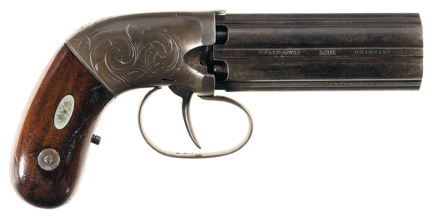 Allen & Thurber Concealed Hammer Percussion Pepperbox