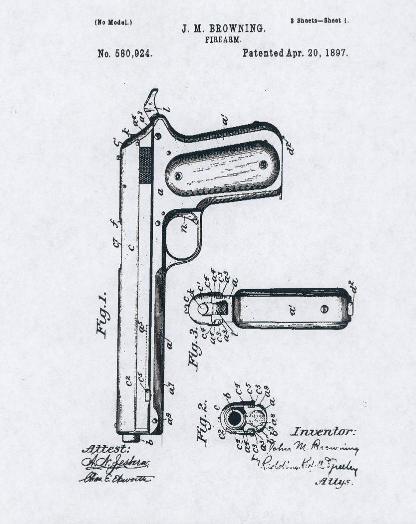 Patent Colt Model 1900