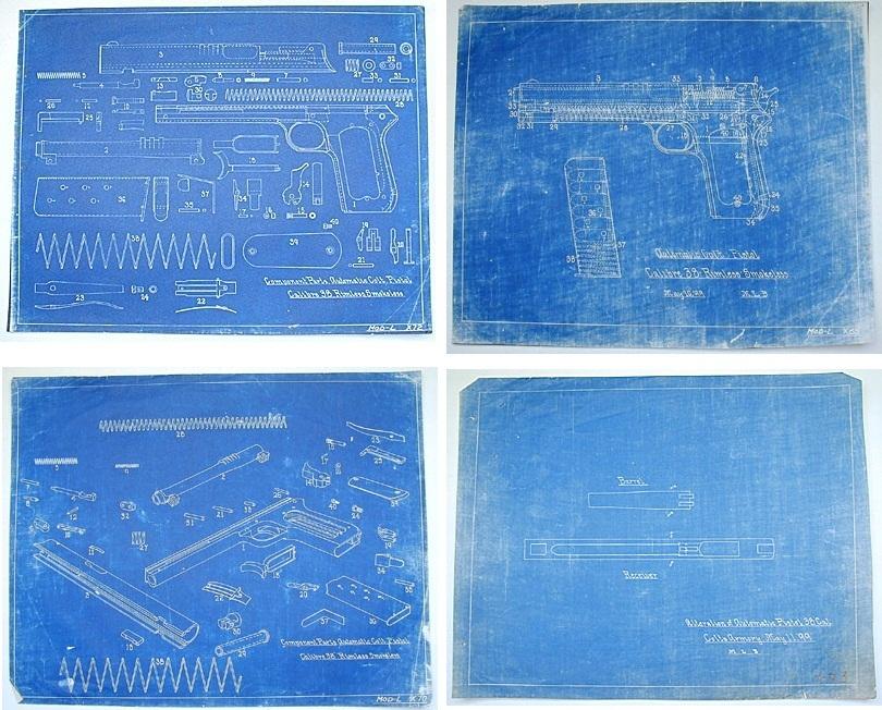 Colt Model 1900 blueprint