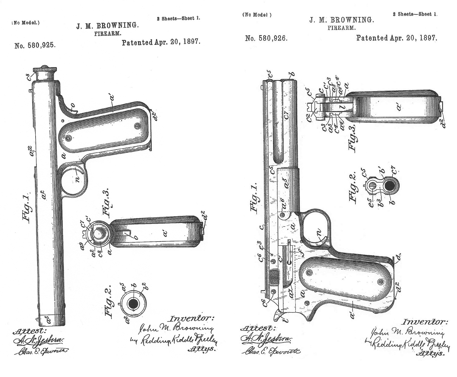Browning patents