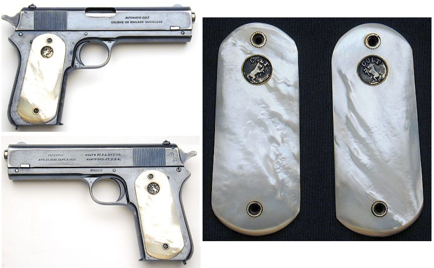 1903 Colt .38 Automatic Pocket Model Pearl Grips