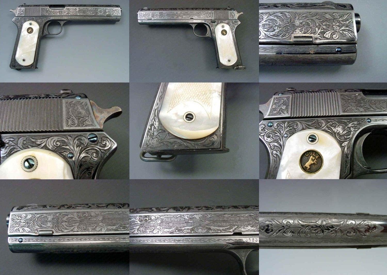 Engraved Colt Model 1902 Military