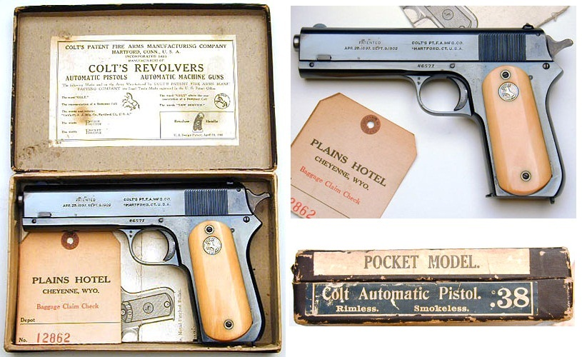 1903 Colt .38 Automatic Pocket Model Ivory Grips