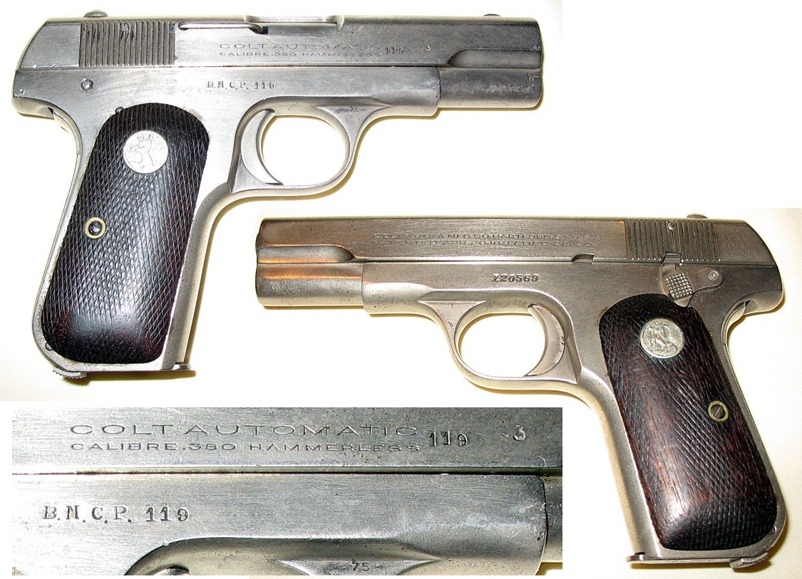 Colt Model 1908 Pocket Hammerless British Maritime Customs Police