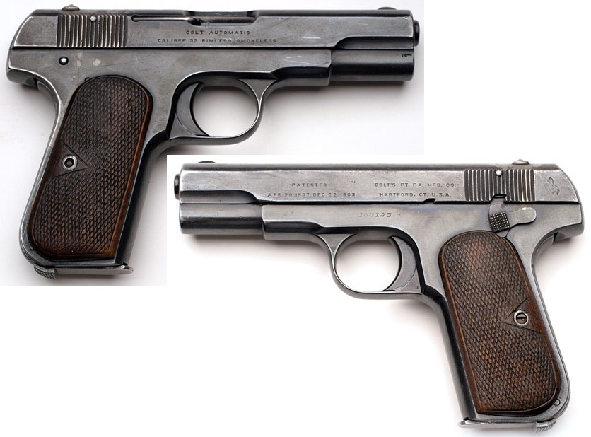 Colt Model 1903 Pocket Hammerless Belgian Contract