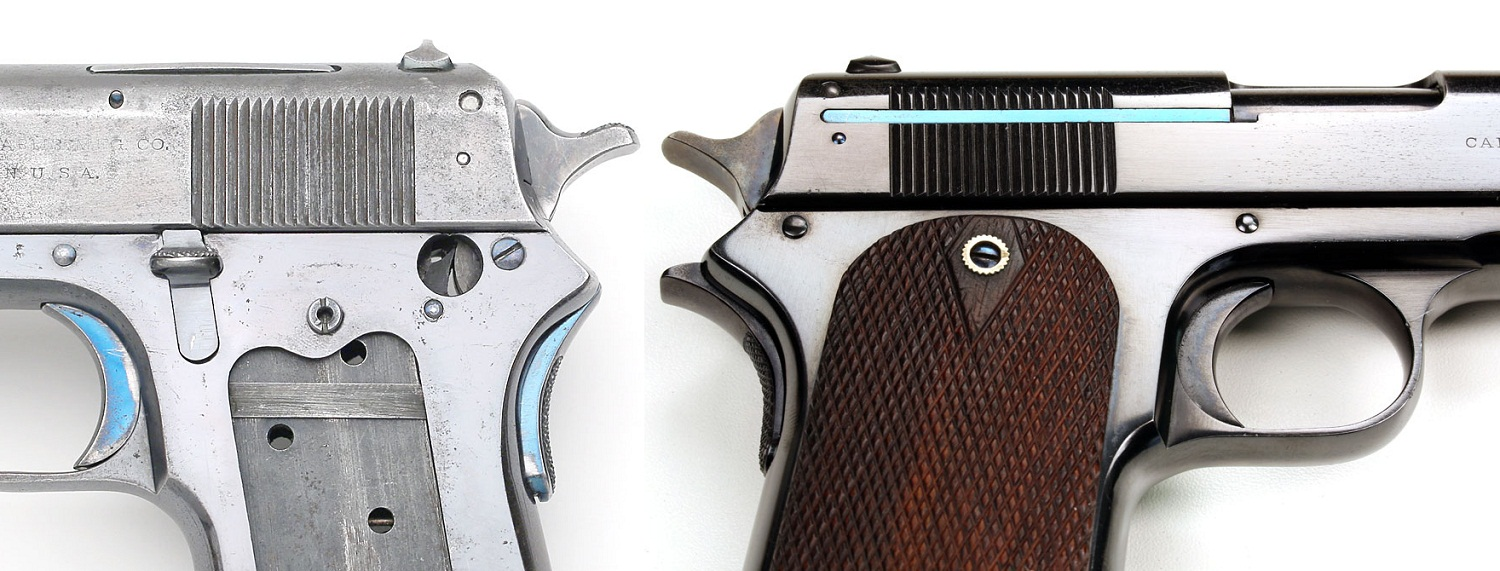 Colt Model 1907 .45 ACP First and Second Variation