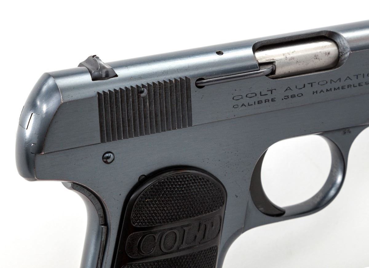 Пистолет Кольт образца 1908 года со скрытым курком карманный калибра 0.380