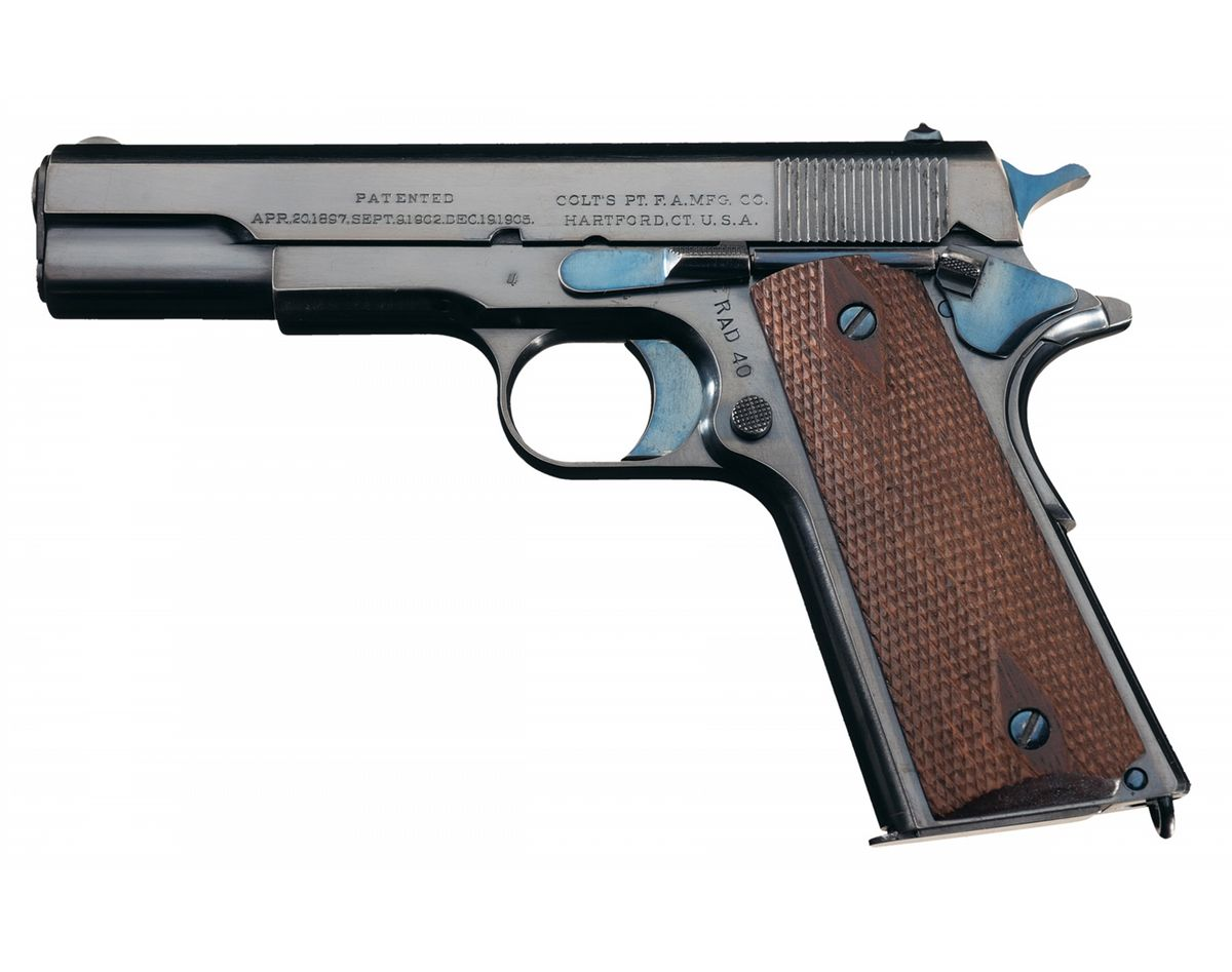 Experimental Colt Model 1910 9.8 MM Pistol