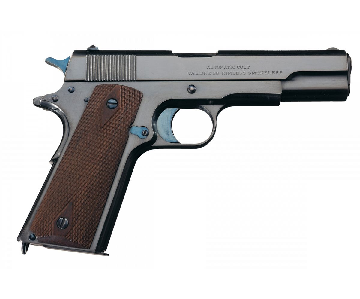 Experimental Colt Model 1910 Pistol 9.8 mm