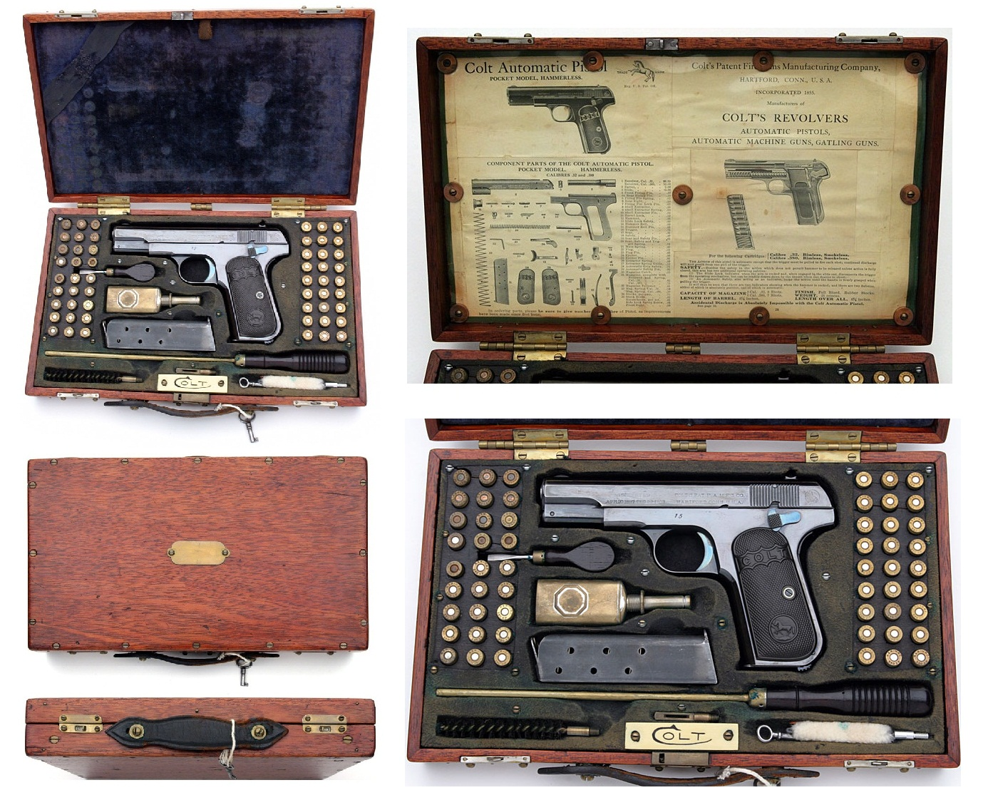 Colt model 1908 pocket hammerless Gun box