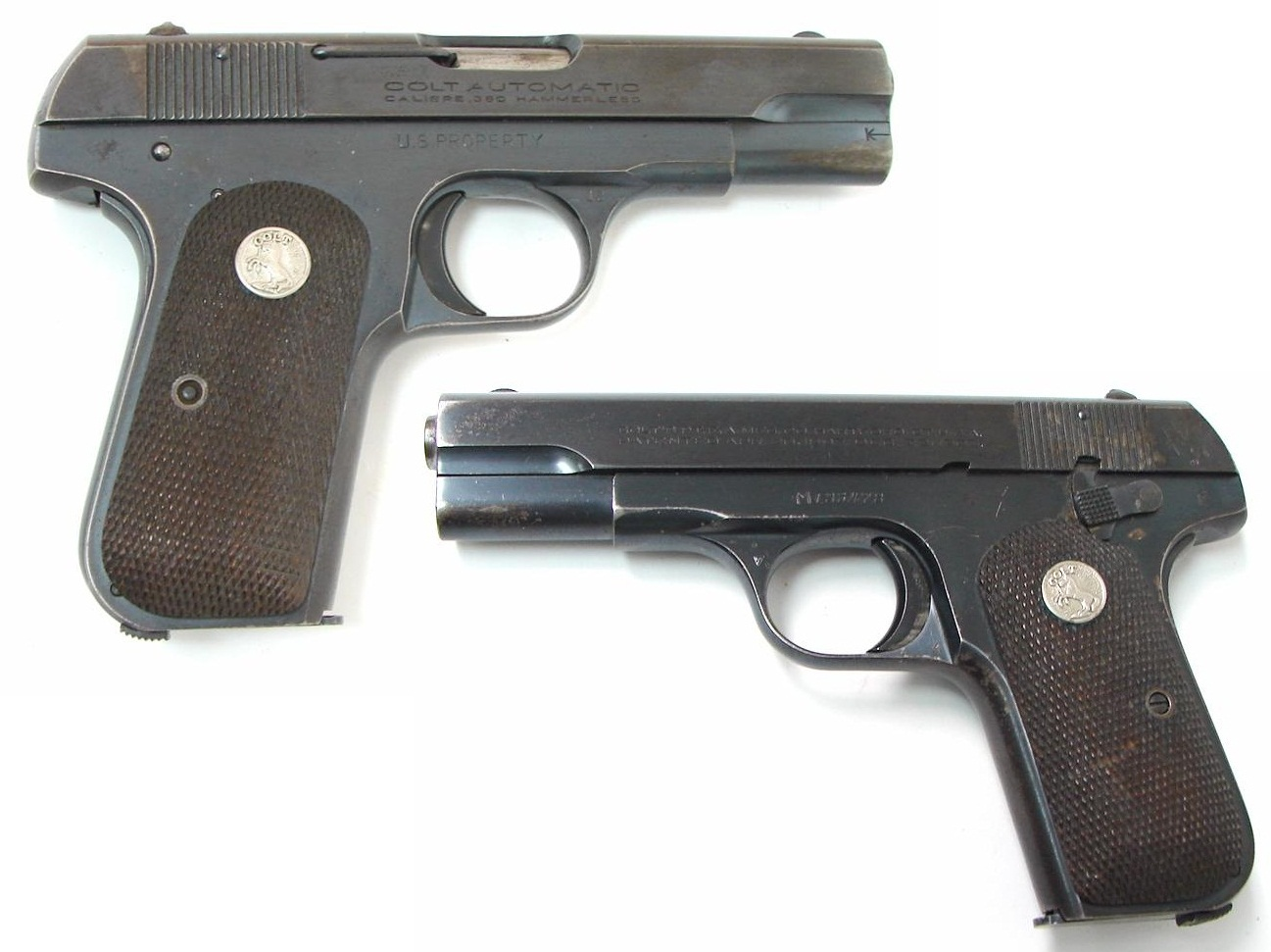 1908 Colt Hammerless Pocket Model Type V variation