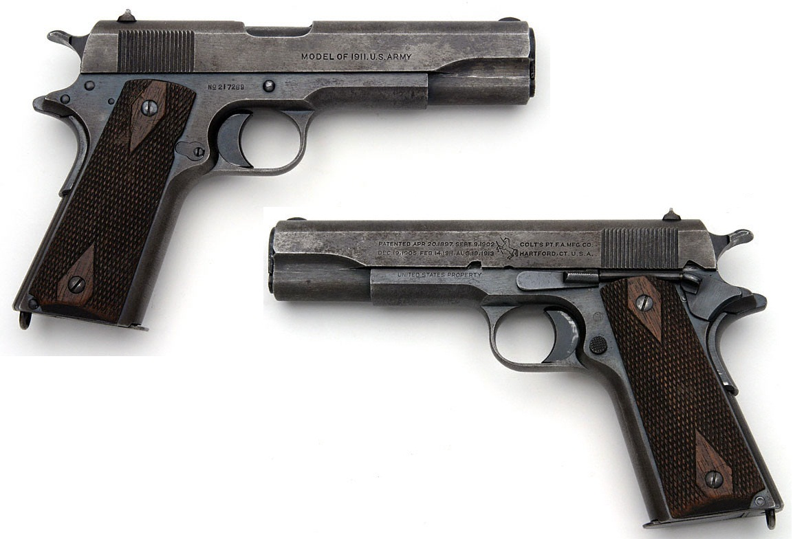 Colt Model of 1911 U.S. Army .45 ACP markings third type
