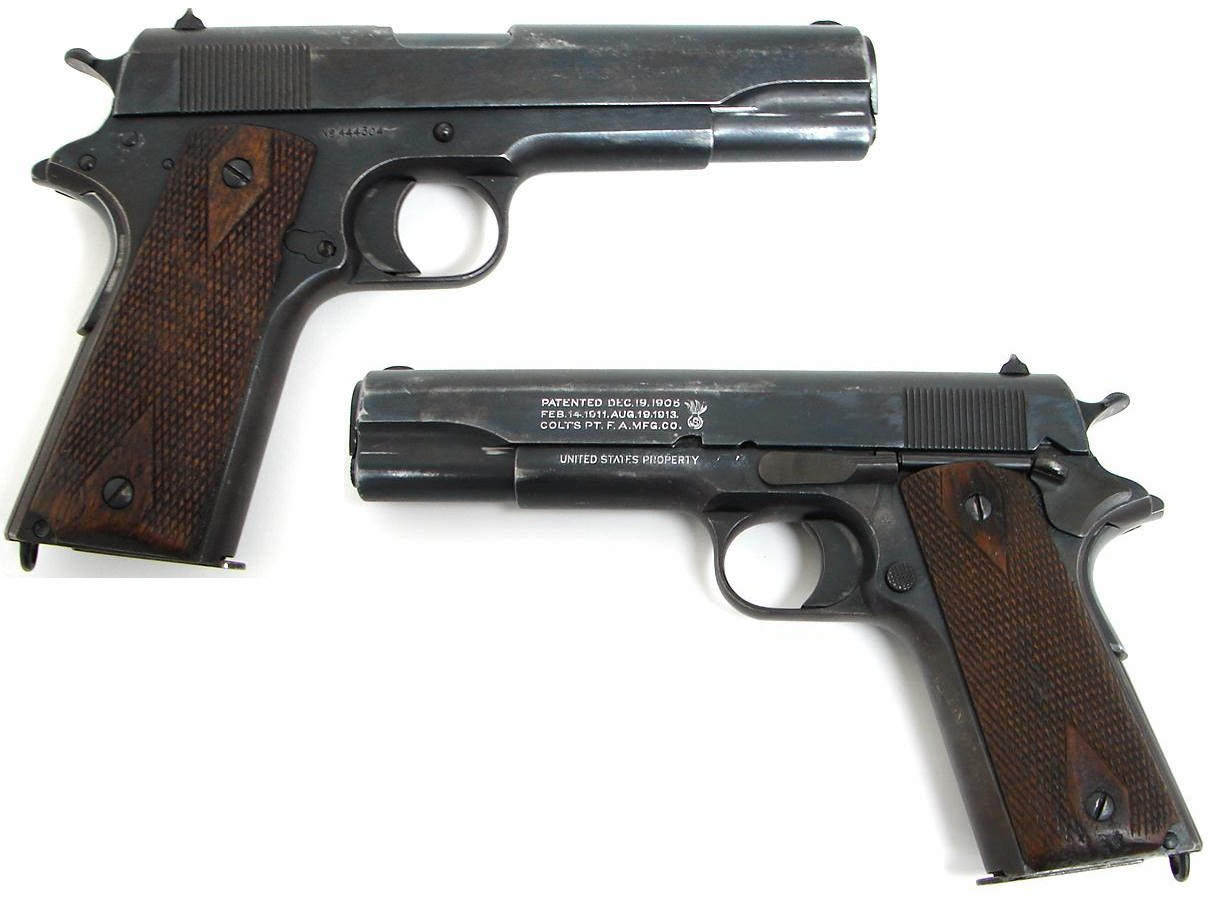 Colt 1911 U.S.  markings Savage