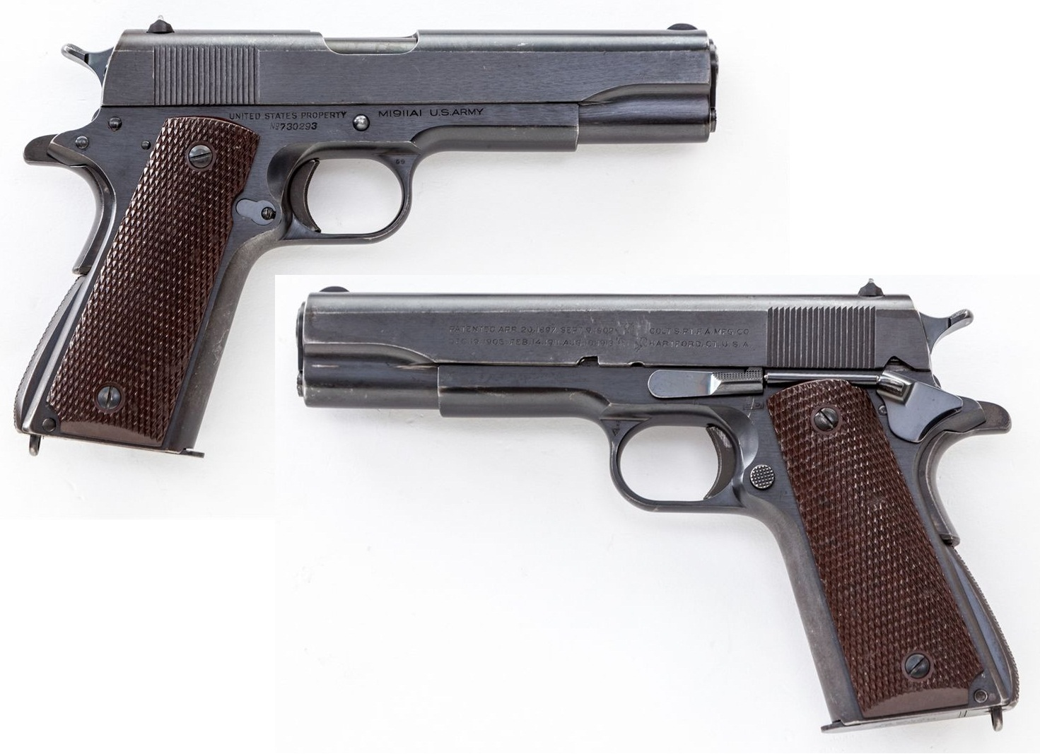 Pre-War Colt Model 1911-A1, blue finish
