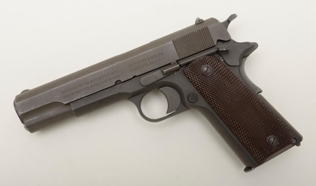 Colt Model of 1911 parkerized for World War II