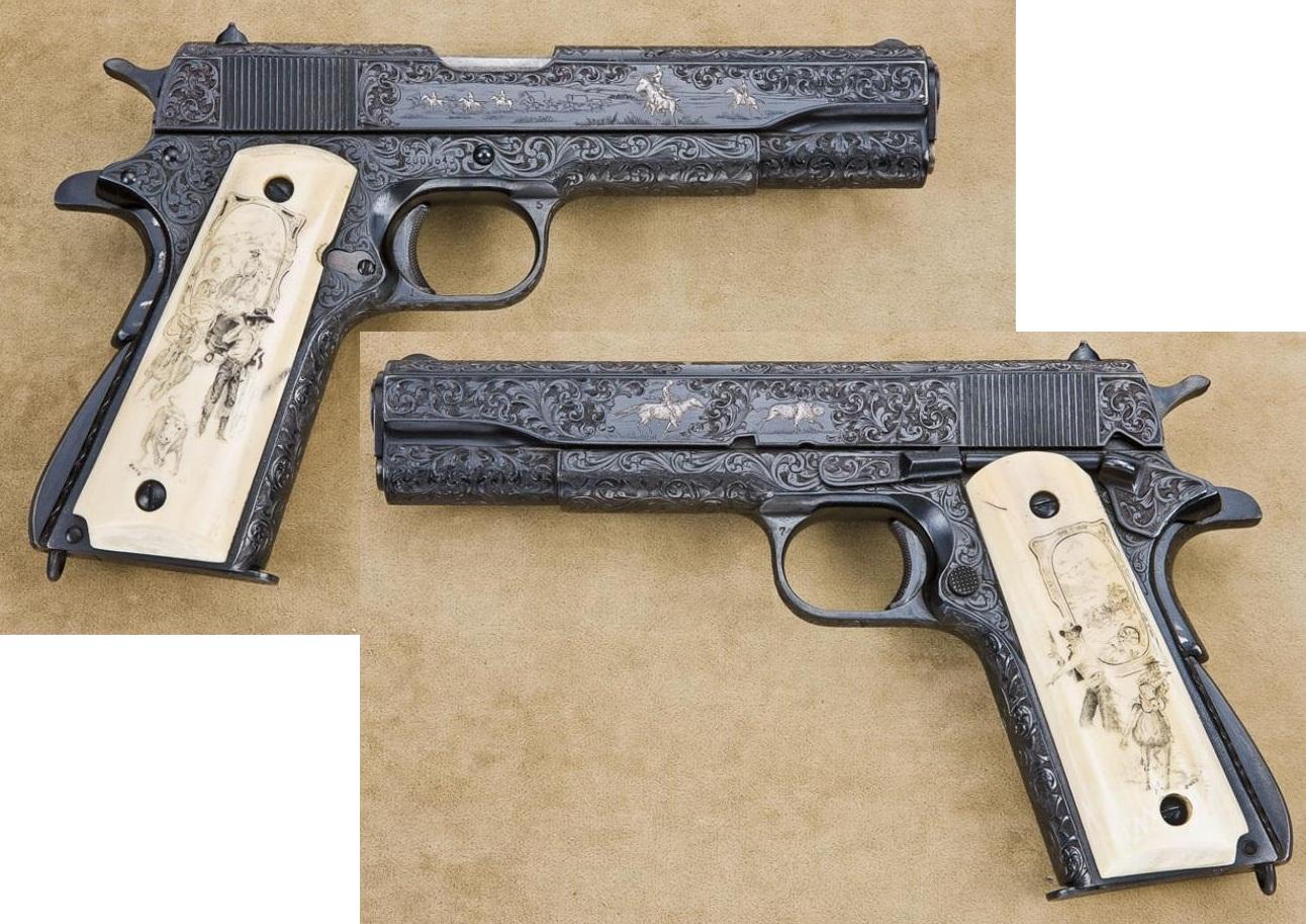 Colt Model 1911A1 engraved
