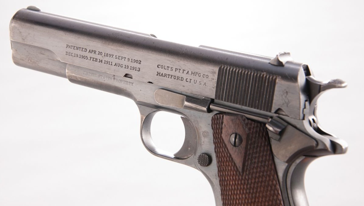 Colt Model of 1911 U.S. Army .45 ACP markings second type