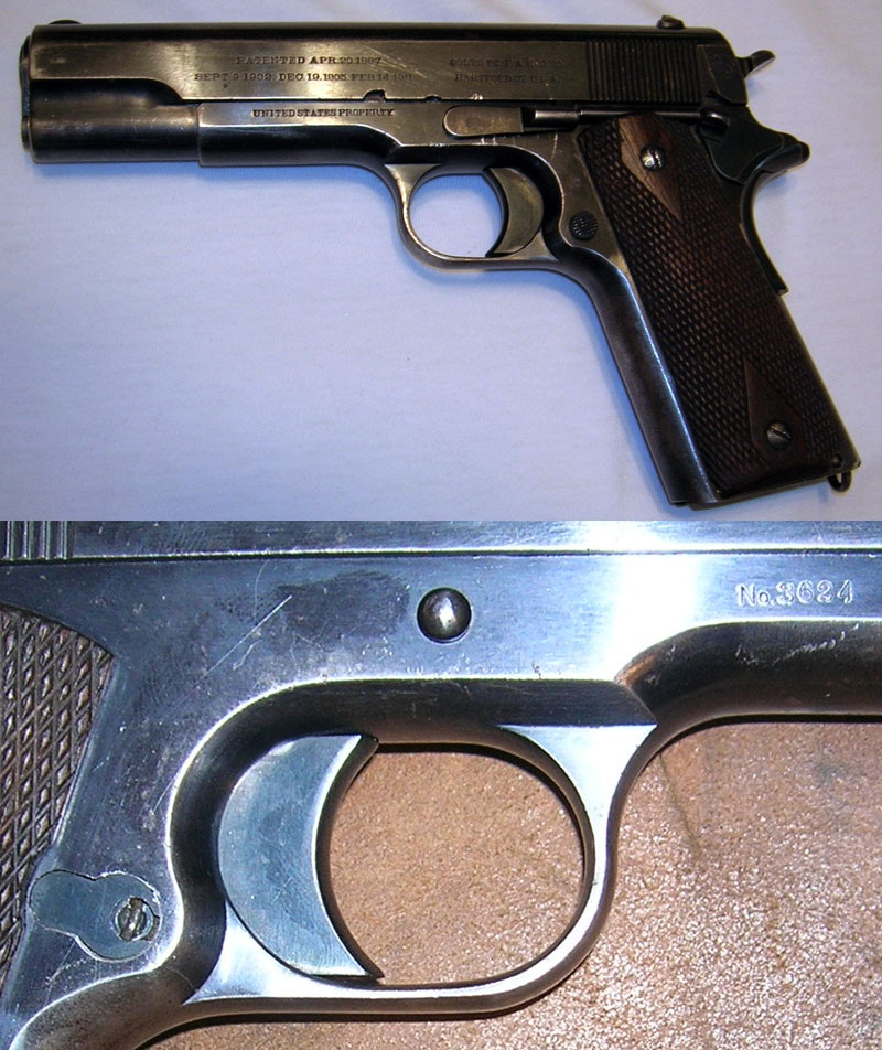 Colt Model of 1911 second type Type magazine catch lock