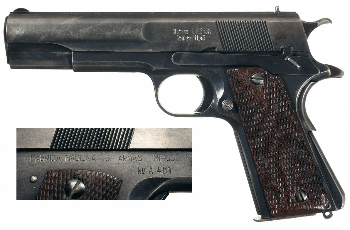 Mexican Obregon Semi Automatic Pistol