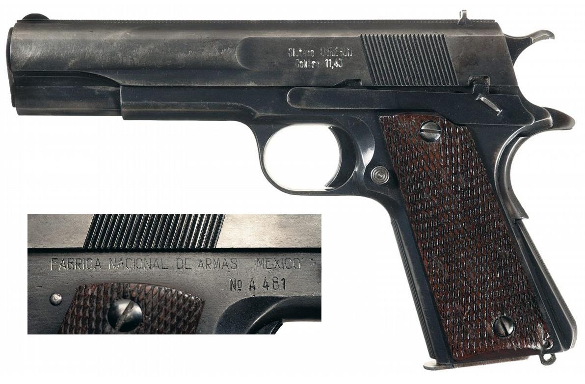 Mexican Obregon Semi Automatic Pistol