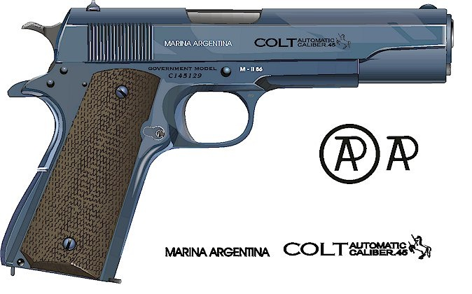 Colt Government Model 1911A1 NArgentina Navy