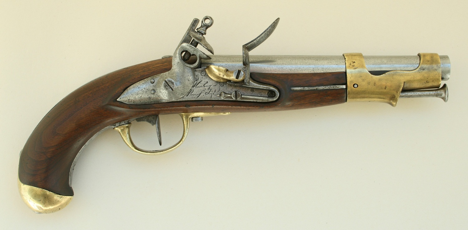 French cavalry flintlock pistol model An IX