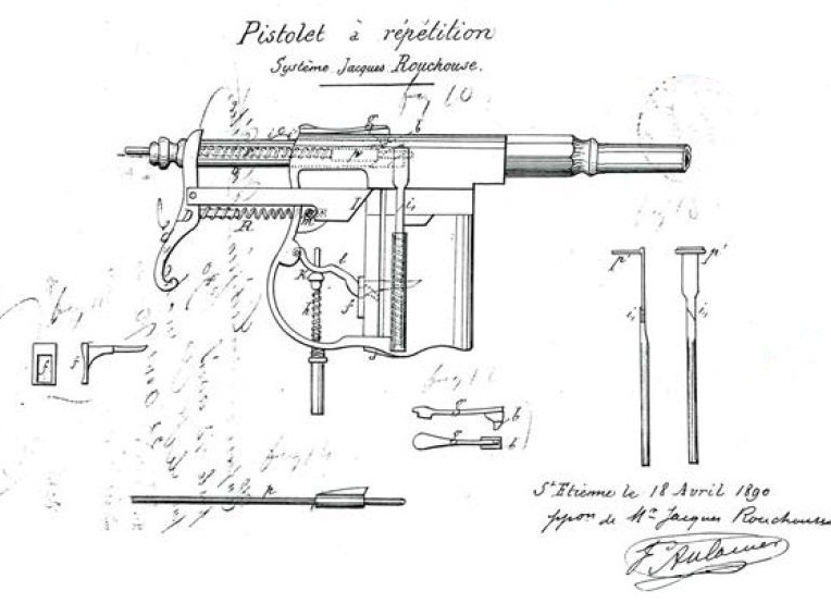 Early Patent pistol Jacques Ronchouse