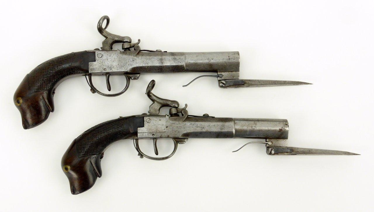 boxlock percussion pistols