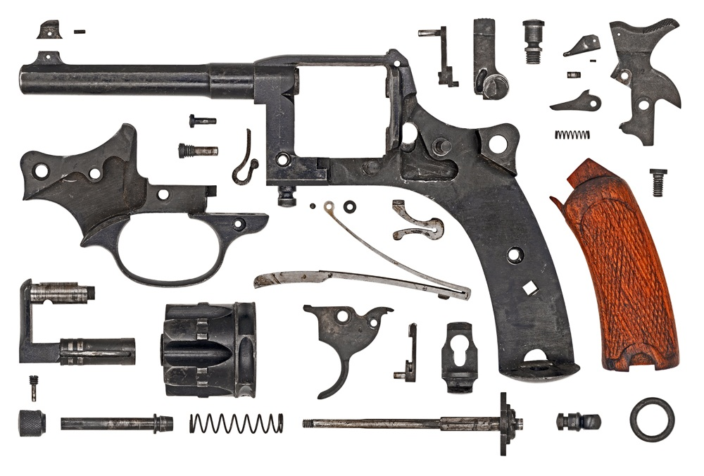French Model 1892 Revolver Disassemblies