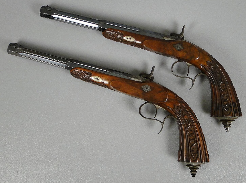 Belgian Percussion Dueling Pistols