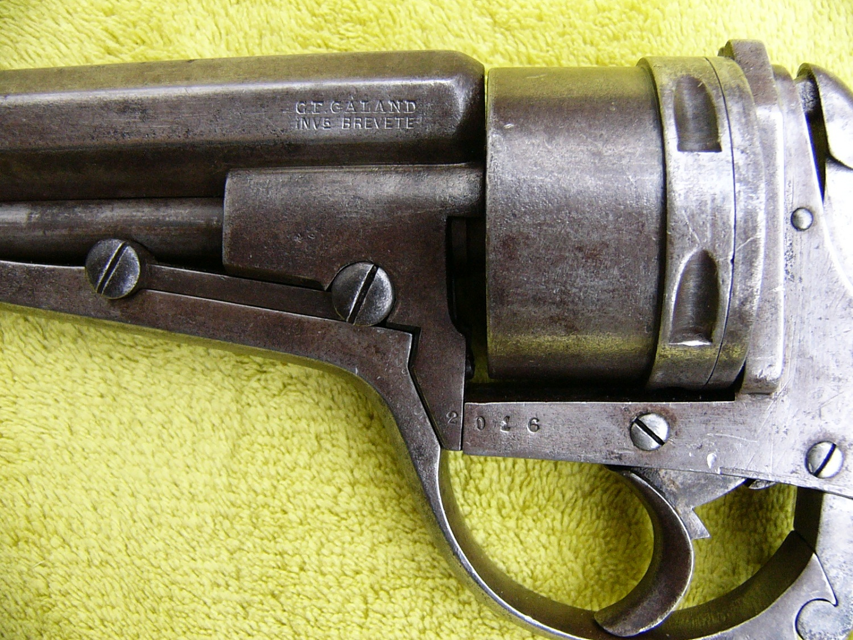 Galand Revolver Manufacture Liegeoise d'armes a Feu