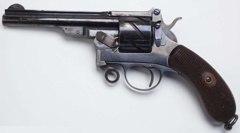 Револьвер Маузер модель 1878 года Зиг-Заг с шарнирной рамкой