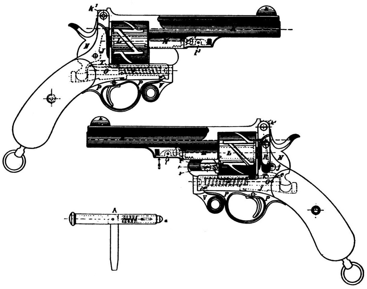 Patent Mauser Zig Zag 1878 model hinged-frame