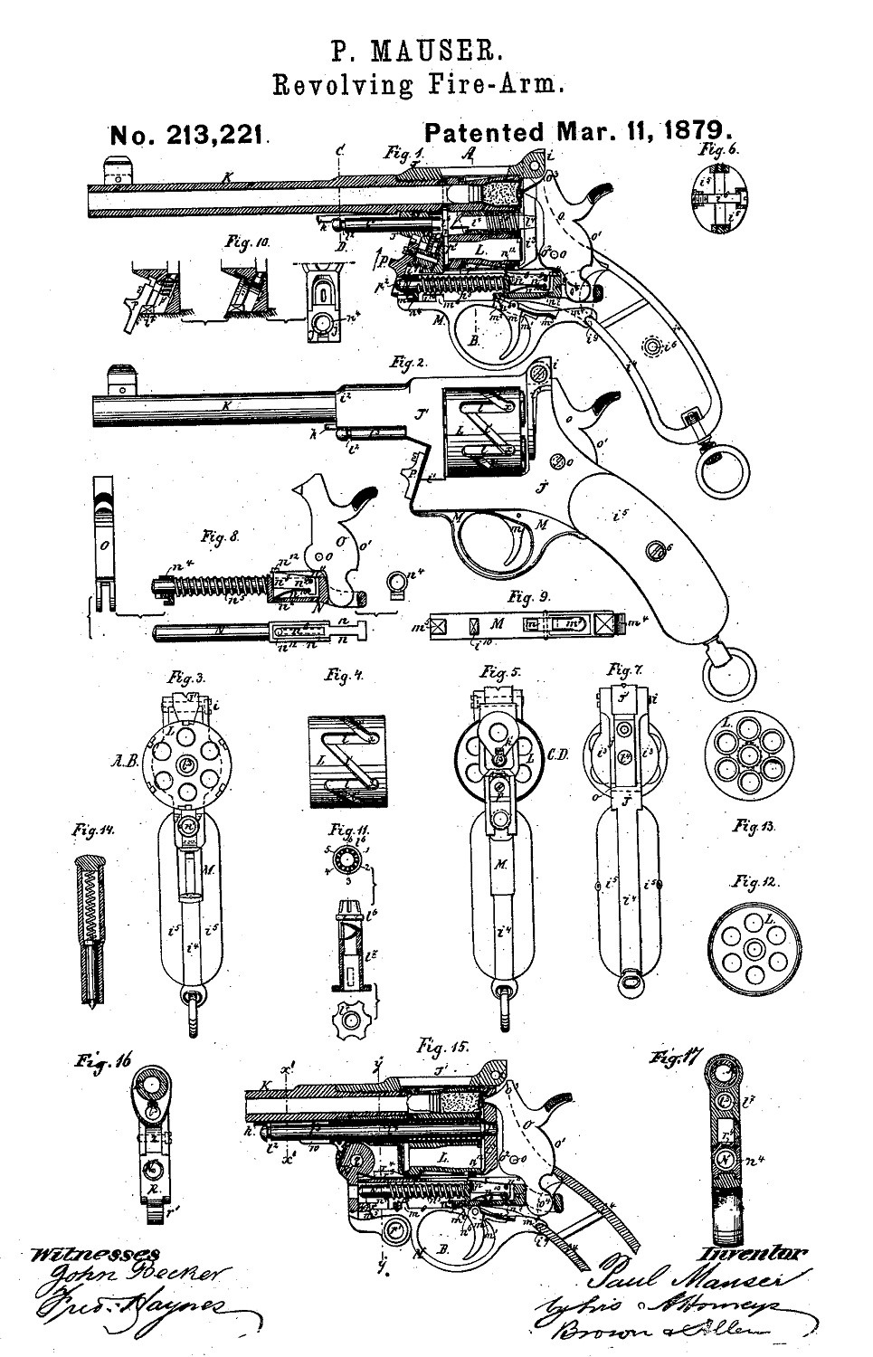 Mauser patent №213221 March 11.1879