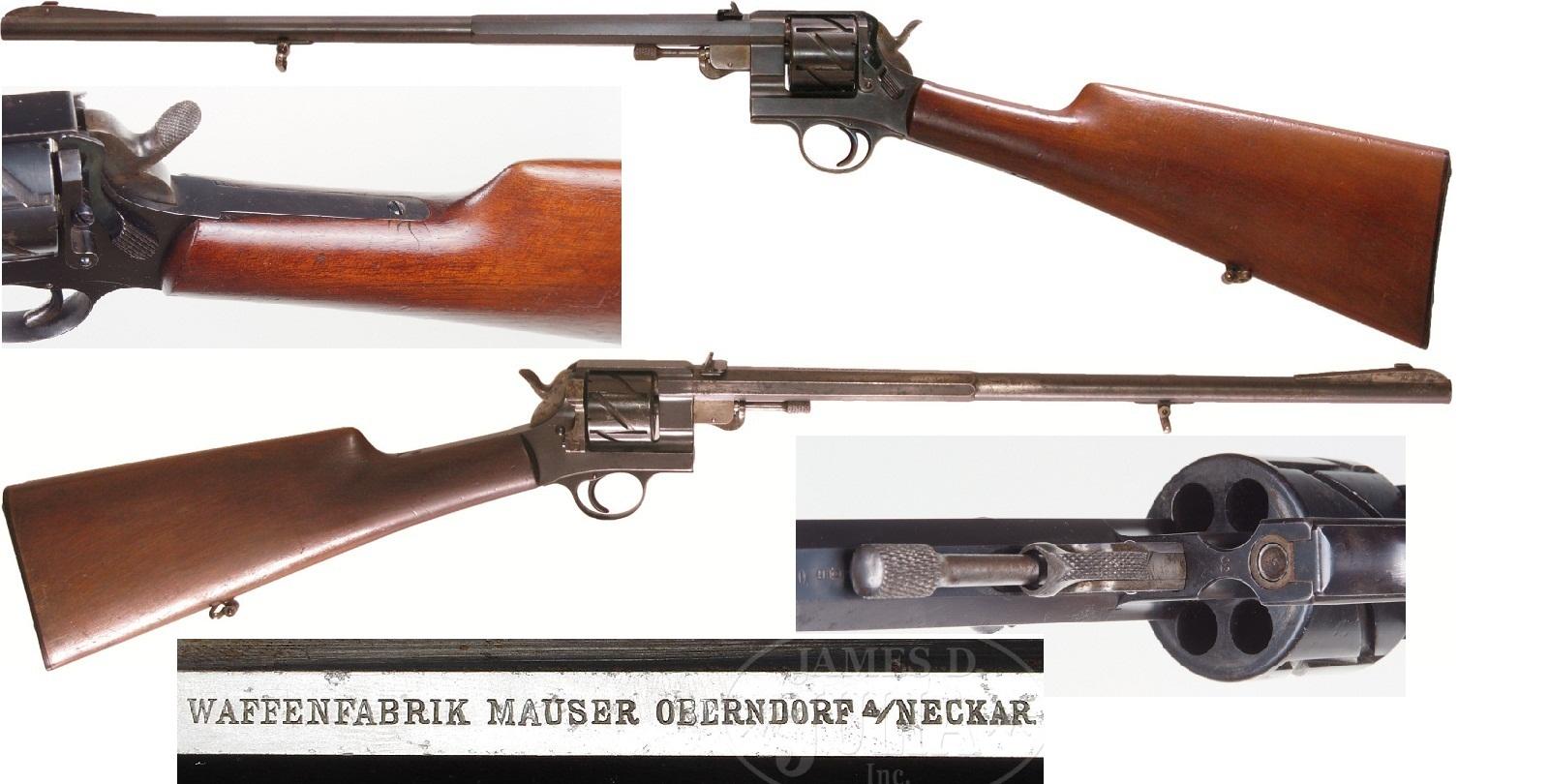Mauser Zig Zag Mod.1878 solid frame Revolver carbine