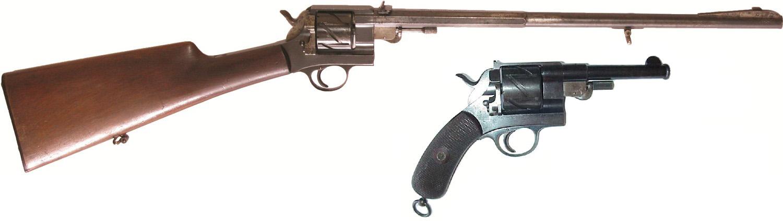 Mauser Zig Zag Mod.1878 solid frame Revolver and Carbine