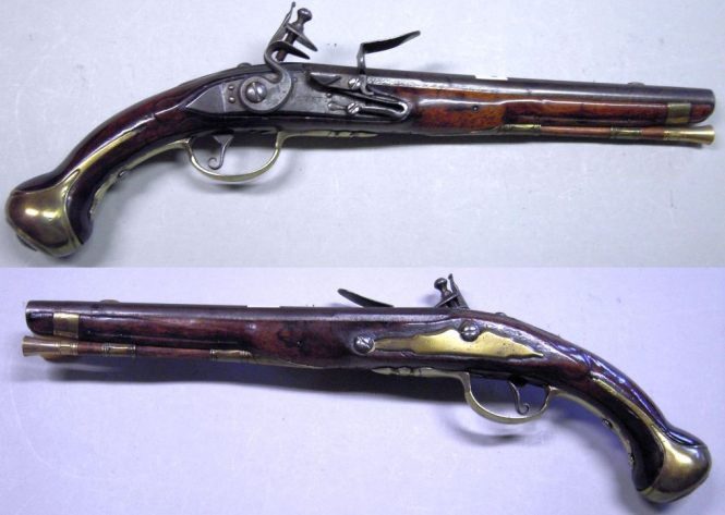 French flintlock pistol model of 1733/34