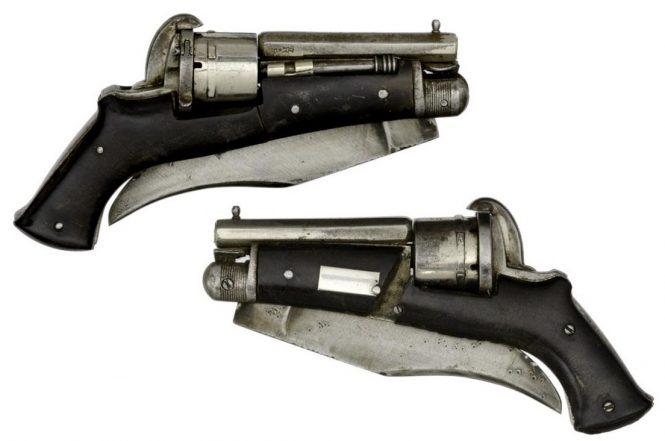 Шпилечный револьвер - нож