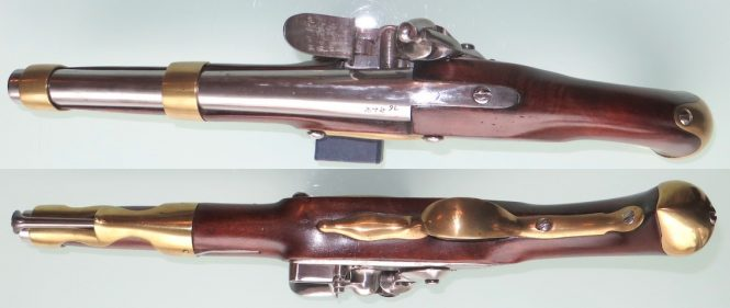French flintlock pistol model of 1763/66 Manufacture de St Etienne