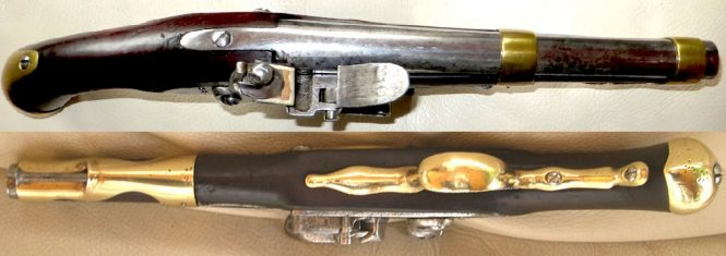 French flintlock pistol model of 1763/66 Manufacture de Maubeuge