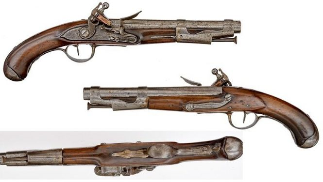 Model 1763/66 Revolutionary Manufactured Flintlock Pistol, Libreville